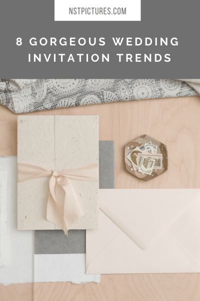 I Love The Simplicity Of Textured Paper Wedding Invitations With