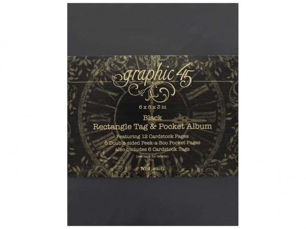 Graphic 45 Staples Album Tag & Pocket Rectangle