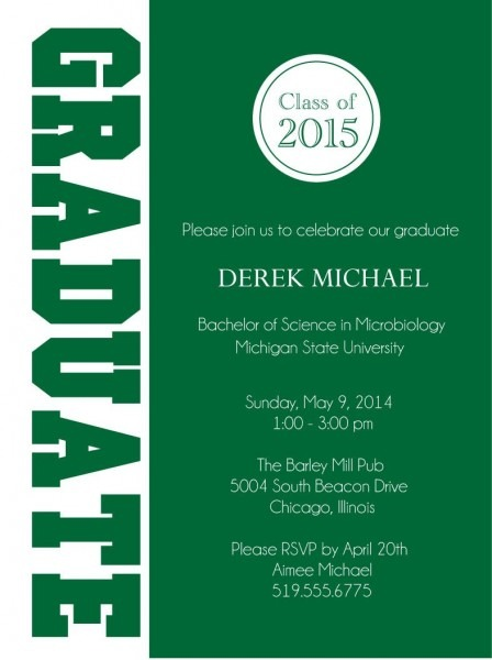 Graduate Graduation Party Invitations