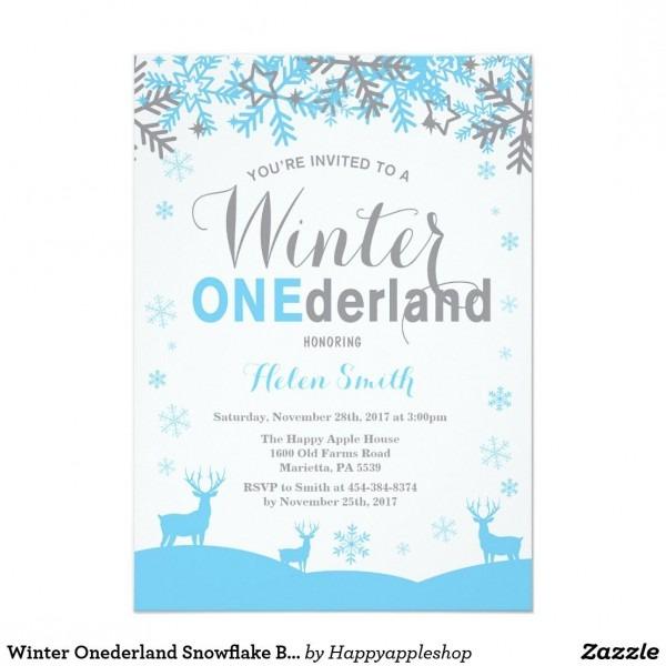 Winter Onederland Snowflake Boy 1st Birthday