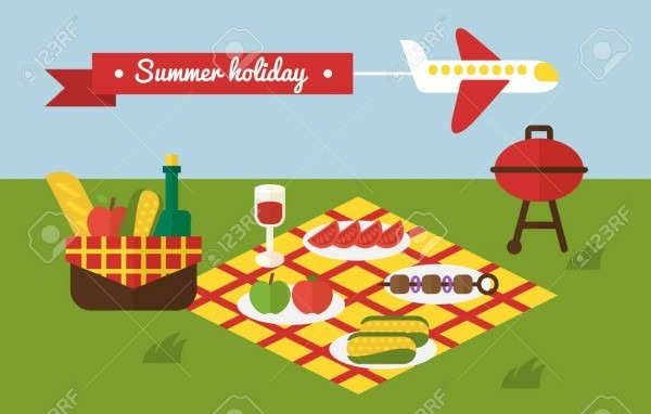 Bbq Party  Barbecue Summer Picnic  Invitation Template Royalty