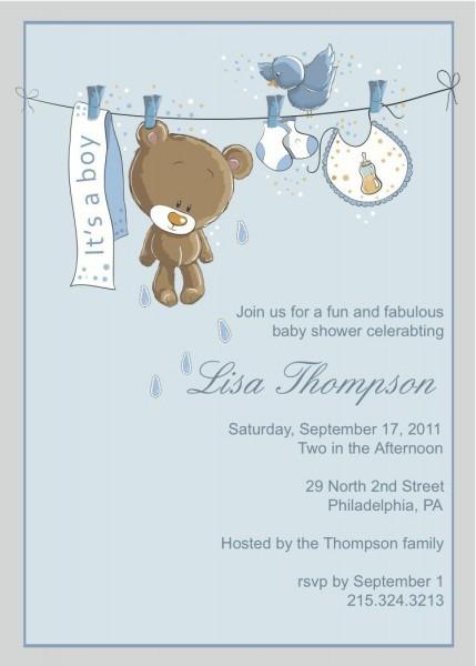 Baby Boy Shower Invitations Free Download