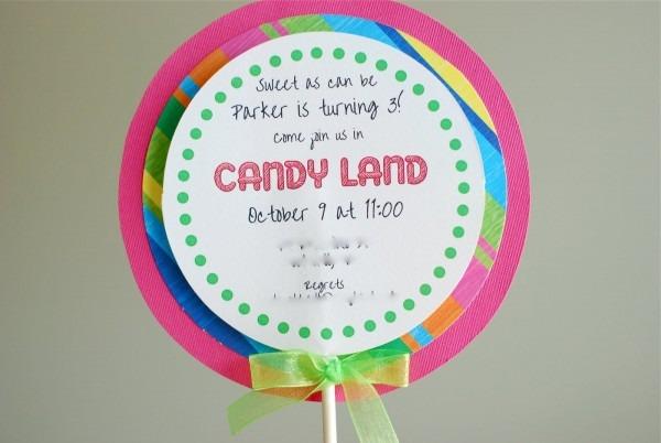 Free Printable Candyland Invitation Templates