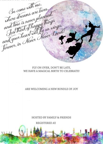 Free Peterpan In Neverland Baby Shower