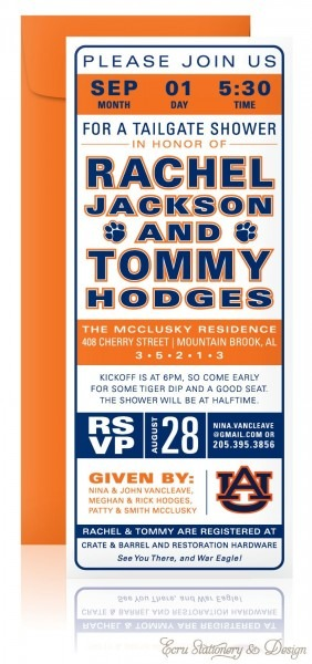 Customize Your Own Tailgate Shower Invitations…auburn By Ecru