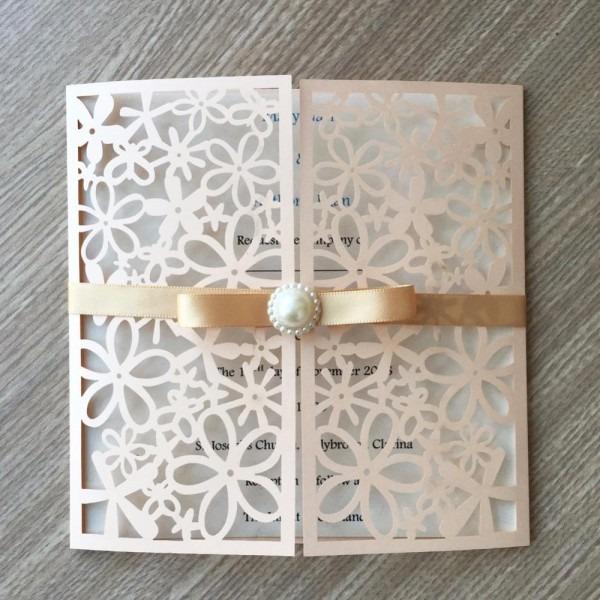 Unique Flower Greeting Card Custom Printing Hot Selling Wedding