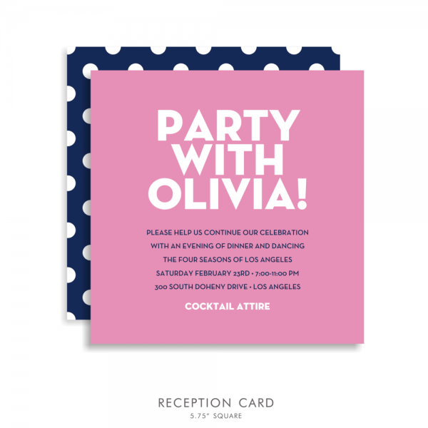 Olivia Anne (suite 5178) Pink And Blue Bat Mitzvah Invitations