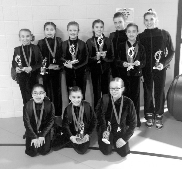 Level 4 Gymnasts Shine At Lucky Stars Invite