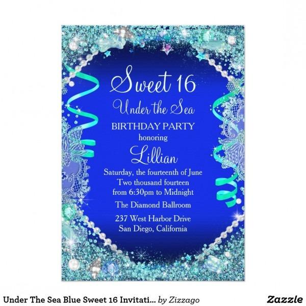 Under The Sea Invitations Sweet 16
