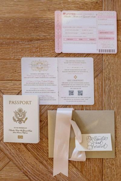 Fancy That! Events, Wedding Invitations, Travel Theme, Passport