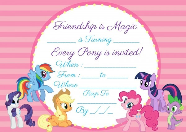 Download This Awesome Free My Little Pony Invite Instantly