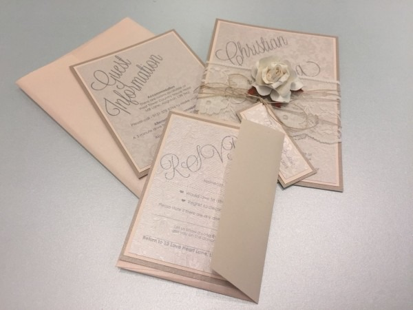 Bundle Style In Blush And Nude With Vintage String, Rose And Tag