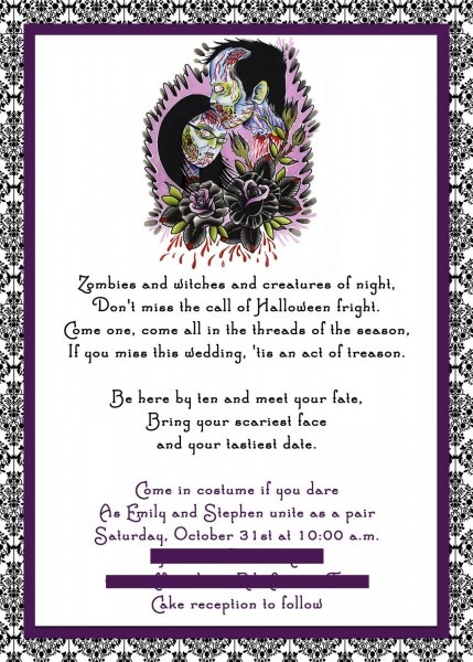 Tips For Choosing Halloween Wedding Invitations