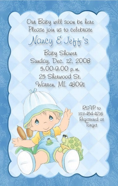 Delicate Blue With Paisley Precious Moments Baby Shower
