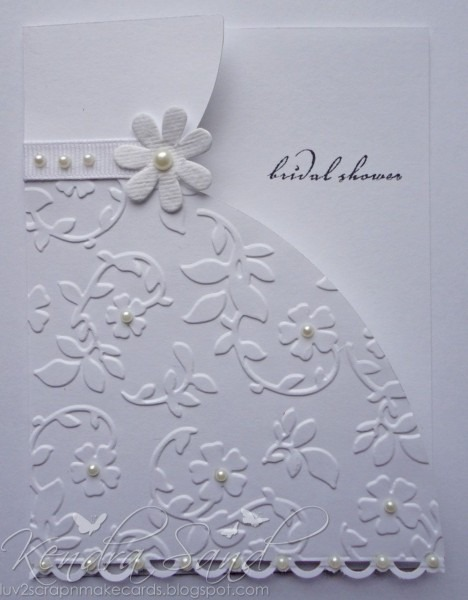 Lovely Card For A Bridal Shower Or Little Girl Card  She Used A