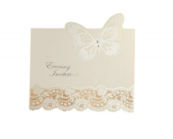 Amazon Com  Beautiful 3d Butterfly Diy Evening Wedding Invitations