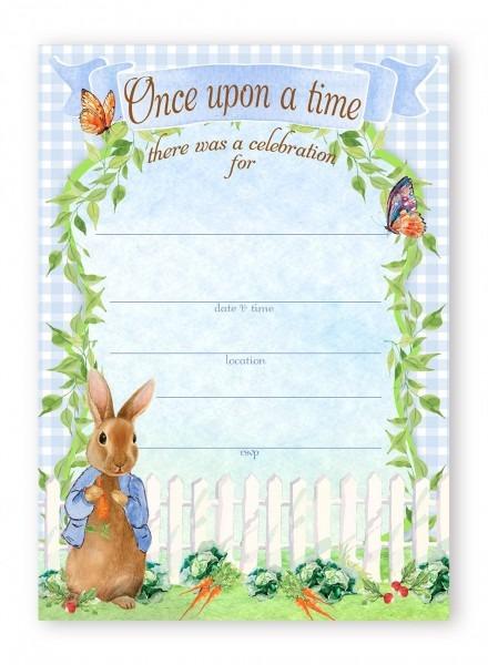 Amazon Com  Peter Rabbit Party Large Invitations