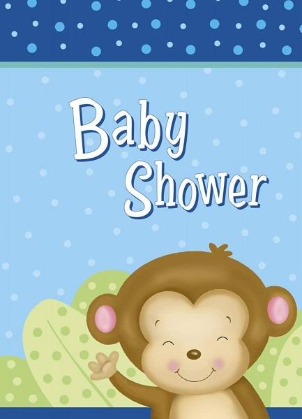 Amazon Com  Boy Monkey Baby Shower Invitations, 8ct  Kitchen & Dining