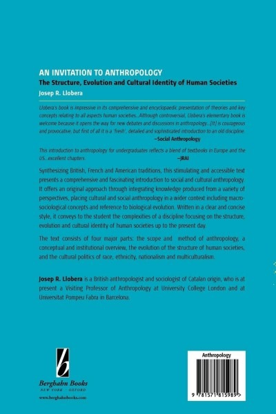 Buy An Invitation To Anthropology  The Structure, Evolution And