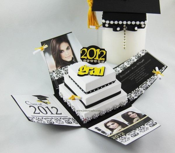 Pyramid Graduation Exploding Box Invitation Announcement Pdf