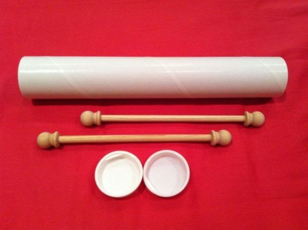Set Of Diy Small Scroll Invitation Kit (5 Set)