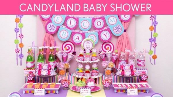 Cool Free Printable Lollipop Baby Shower Invitation Idea