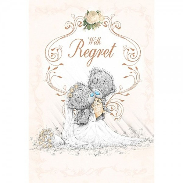 Wedding Invitation With Regret Me To You Card £1 49