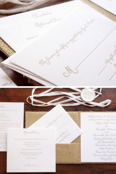 A Rustic Twist On A Black Tie Affair, This Burlap And Silk Save