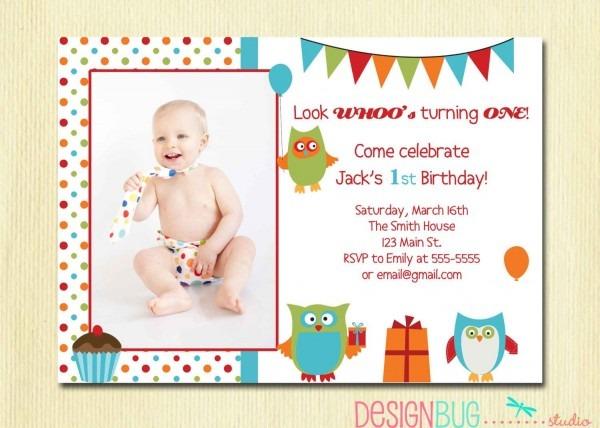 Owl Birthday Boy Invitation