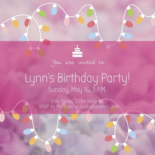 Birthday Party Invitation Instagram Ad 1080x1080px Template