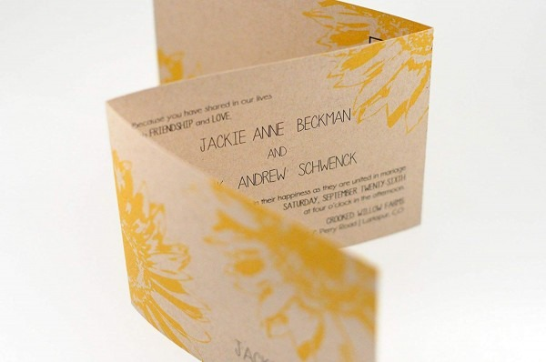 Amazon Com  Rustic Sunflower Wedding Invitation, Seal N Send Tri