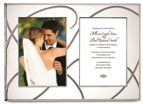 Adorn Silver Plate Double Invitation Frame By Lenox