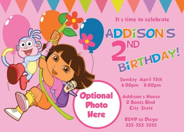 Use The Form Below To Delete This Dora Birthday Party The Explorer