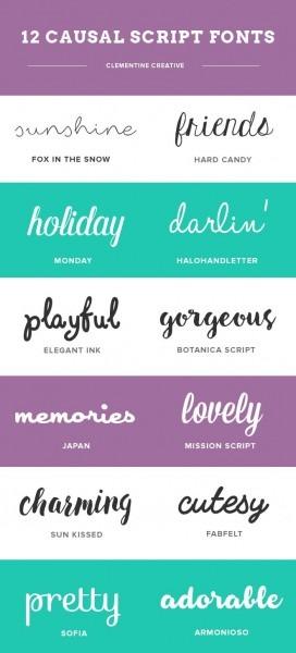 12 Casual Script Fonts