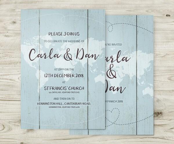 Travel Theme Invitations, Destination Wedding Invitations, World