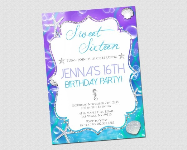 Sweet 16 Birthday Invitation