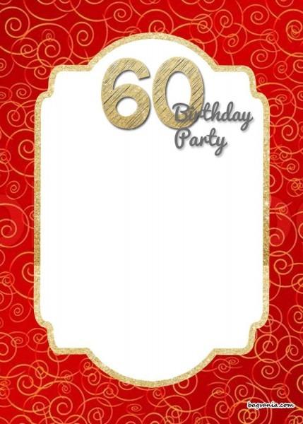 Free Printable 60th Birthday Invitation