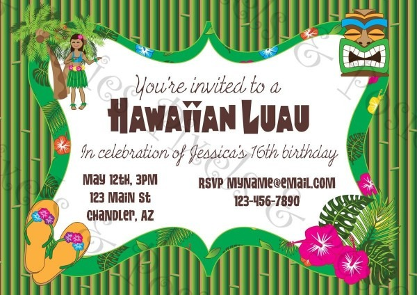 Free Printable Hawaiian Luau Party Invitationsfree Printable