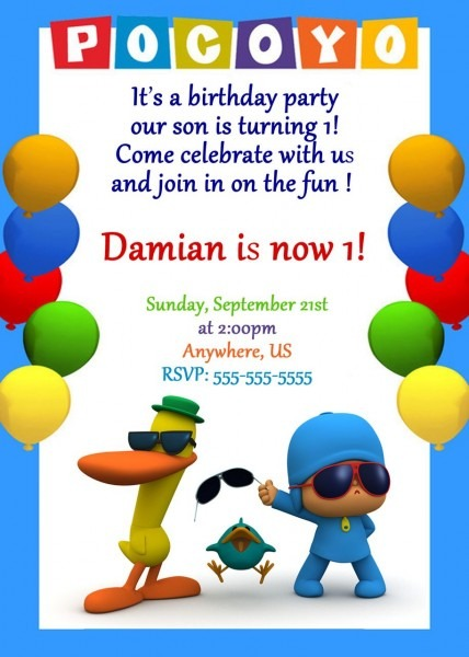 Pocoyo Birthday Party Invitations In 2019