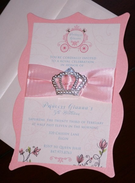 Diy Princess Birthday Invitations