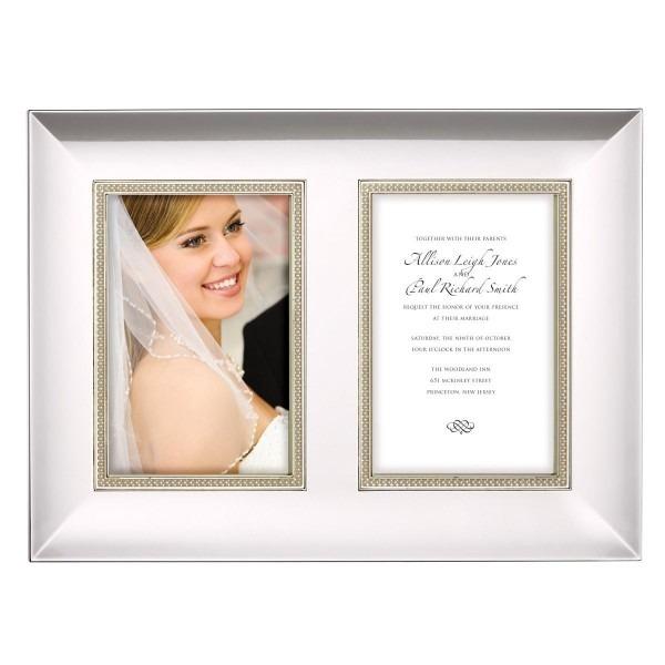 Lenox Jubilee Pearl Double Invitation Frame (frm 8x10), Silver