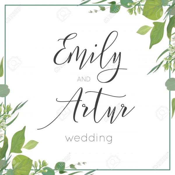 Wedding Invitation, Invite, Save The Date Card Design  Green