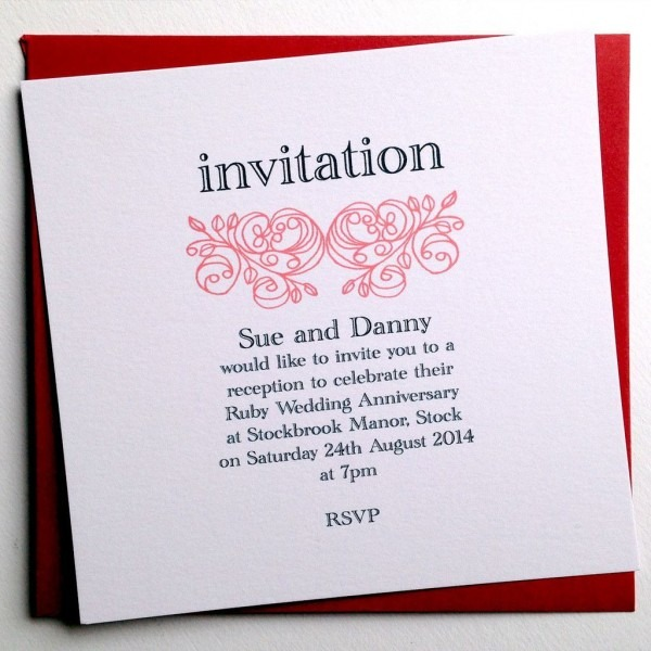 Custom Anniversary Invitation Cards