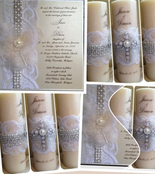 Candle Personalized Wedding Invitation Unity Keepsake Kandle