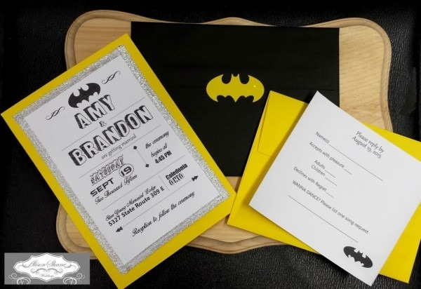 Batman Wedding Invitations Batman Themed Wedding Invitations