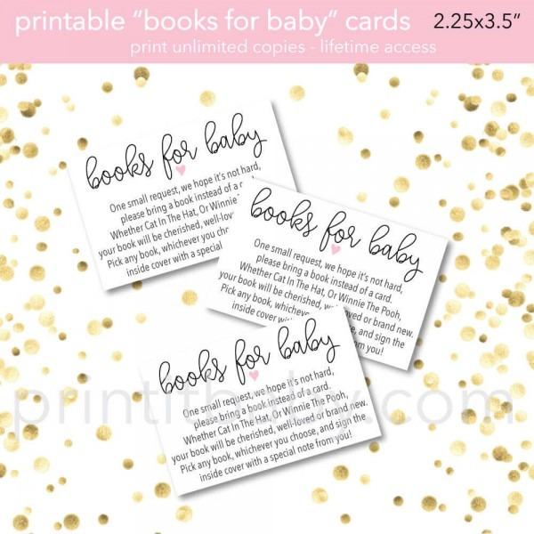 9 Quotbring A Book Instead Of A Cardquot Baby Shower Invitation