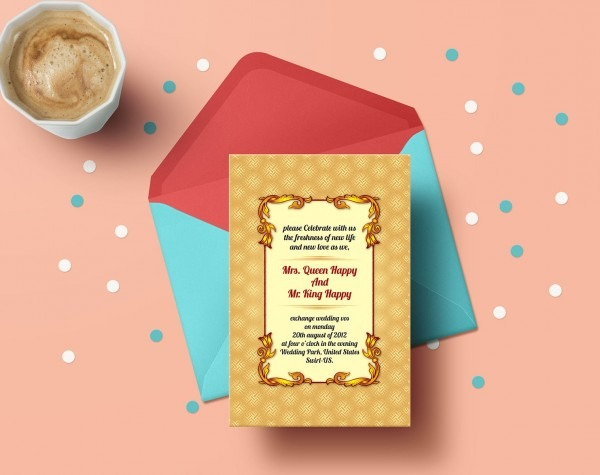 Lovely Wedding Invitation Card Corporate Identity Template