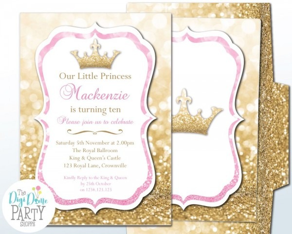 Glitter Princess Party Invitation
