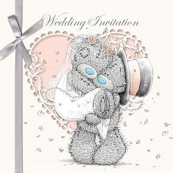 Wedding Invitation Me To You Bear Cards (pack Of 6) (a01gs027
