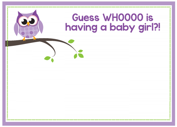 Free Printable Owl Baby Shower Invitations {& Other Printables